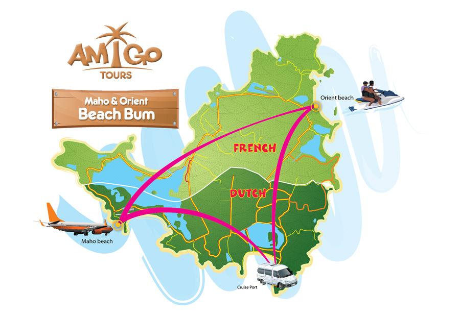 Maho Orient Beach Bum Itinerary