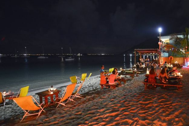 Grand Case Beach at Night